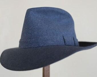 4ef19e1239a48 Amazing NOS 1930s heather blue fedora