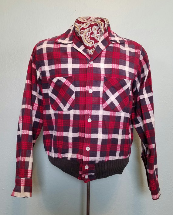 1950s plaid Ricky jacket