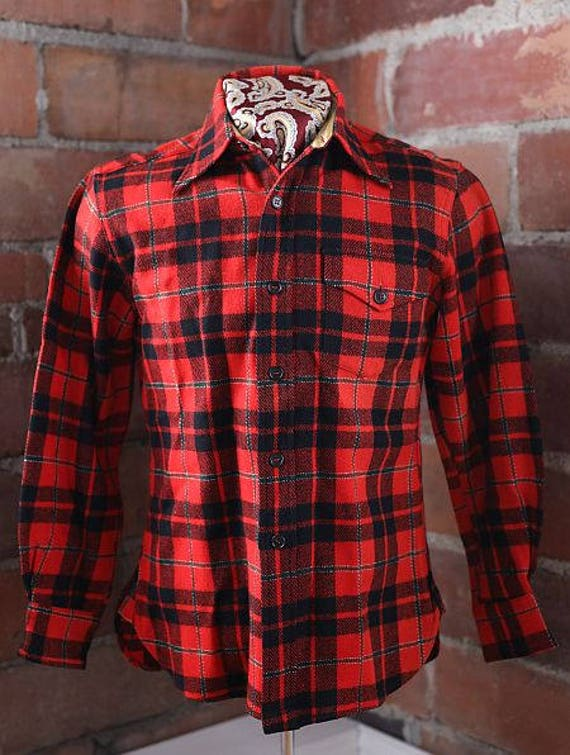 1930s plaid flannel shirt