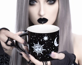 Celestial Coffee Mug in Gift Box Porcelain 3D Novelty Cup 14.2 oz, 420ml by Rogue + Wolf