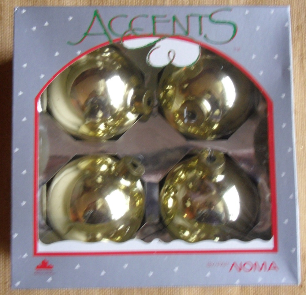 Noma Christmas Decorations: Vintage Christmas Glass Ornaments Noma Accents Doubl Glo 4