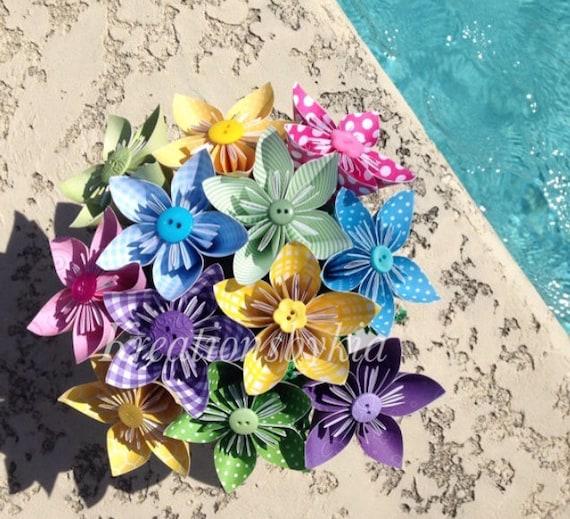 Summer breeze kusudama origami flower bouquetflower etsy image 0 mightylinksfo