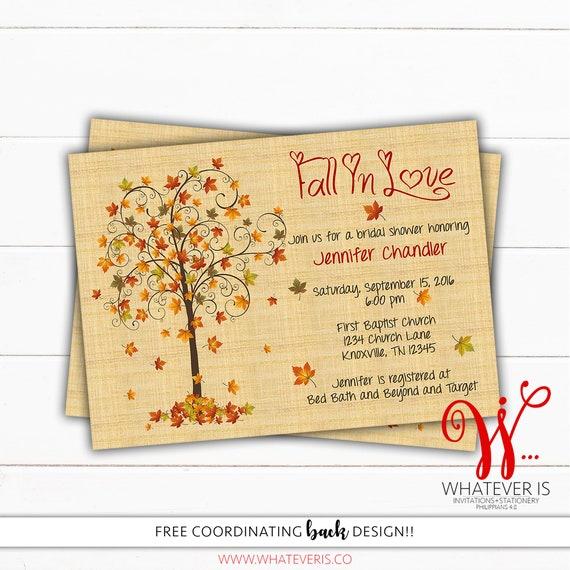 Fall in love bridal shower invitation fall bridal shower etsy image 0 filmwisefo