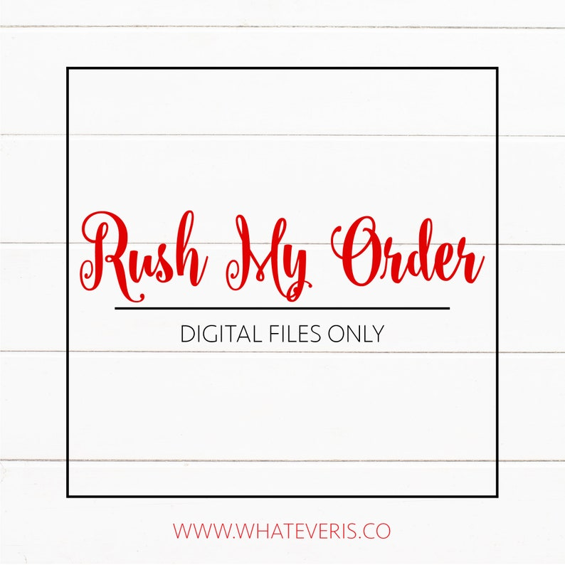 RUSH MY ORDER  Rush Fee for Digital Proofs Only image 0