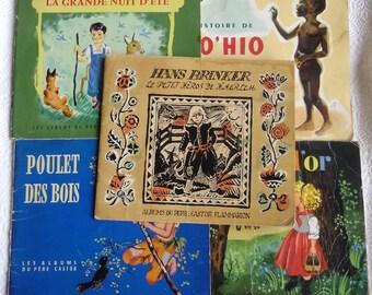 Rare Childrens Books - 5 Albums Du Pere 50's, Castor Flammarion, Boucle D'Or, La Grande Nuit D'Ete, Poulet Des Bois, Hans Brinker, Zo'Hio