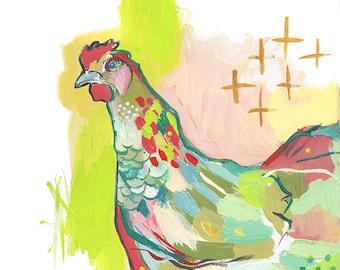 Ms. Chicken - Day 323 of Makewells365 - Chicken Art Print
