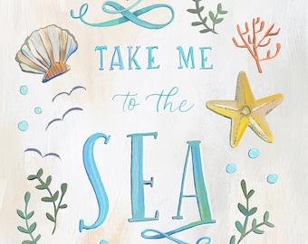 Take Me to the Sea - Makewells Fine Art Print