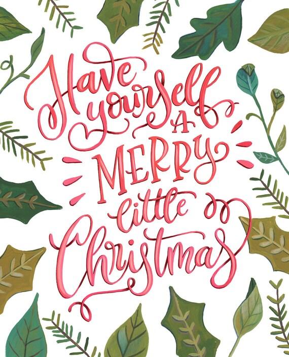 Merry Little Christmas.A Merry Little Christmas Makewells Christmas Art Print Vertical