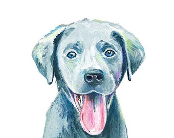 "Pet Portrait - Dog, Cat or any animal - 8 "" x 10"" Custom Pet Portrait by Makewells"