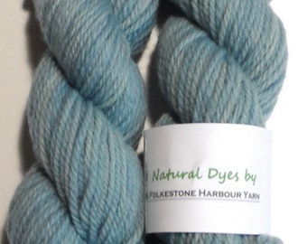 Woad Light Blue Aran Southdown Yarn 50g Homegrown