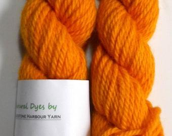 Madder & Turmeric Bright Orange #73 Cheviot Chunky Yarn 50g
