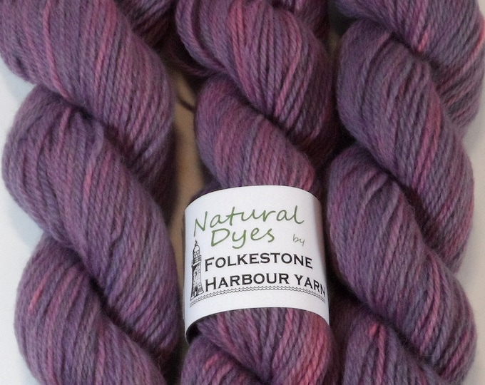 Purple Indigo & Cochineal DK Romney Wool Yarn 50g #67