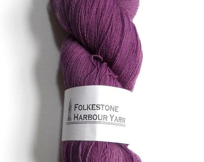 Heliotrope Purple Superwash Merino Lace Wool Yarn #28