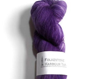 Malicious Purple Merino Lace Superwash Wool Yarn 100g #27