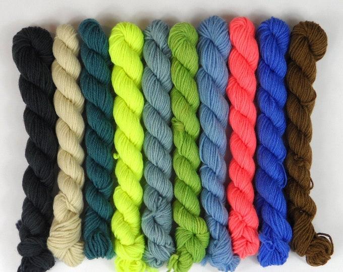 Harbour Solid Mini Skein Set    Sock Yarn    100g or 200g