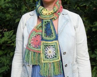 Bouquet Scarf     Digital Download      Crochet Pattern
