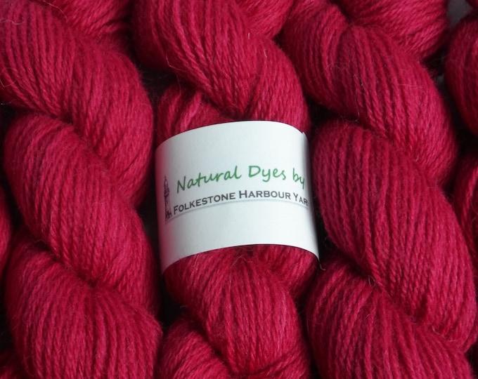 Raspberry Red Cochineal #65 DK Romney 50g
