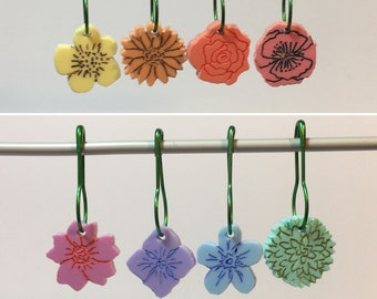 Floral Stitch Marker sets     Choice of 4 or 8