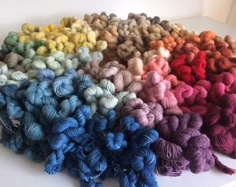 Single Mini Skeins 10g Natural Dye All Colours