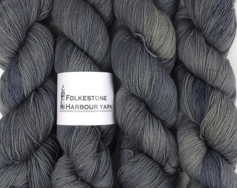 Anthracite Grey Merino Blend Sock Wool Yarn 09