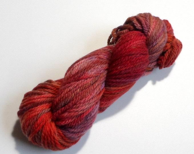 Dragon Variegated Chunky Merino Wool Yarn 100g skein Red Plum