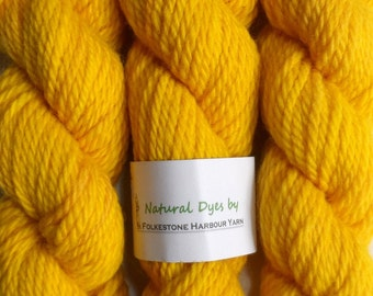 Turmeric Bright Yellow #45 Cheviot Chunky Yarn 50g