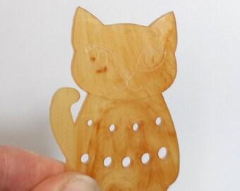 Bella Cat Mini Knitting Needle Gauge Metric  Ginger Pearlescent Swirl