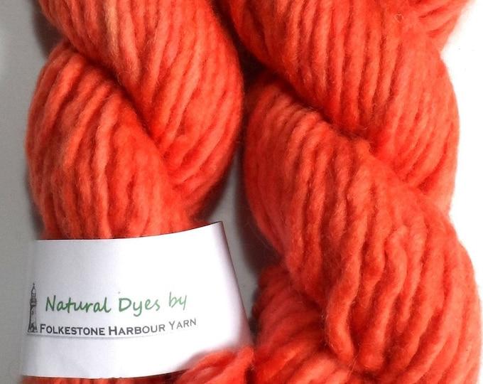 Madder Coral Super Chunky Corriedale Yarn 50g