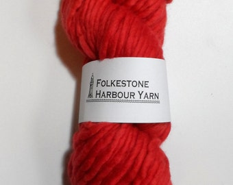 Vermillion Red Super Chunky Merino Wool Yarn  23