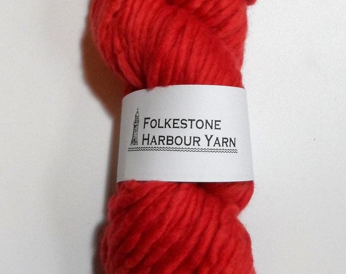 Vermillion Red Super Chunky Merino Wool Yarn  23
