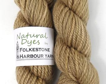 Grey Beige Elderberry BFL Chunky Yarn 50g #15