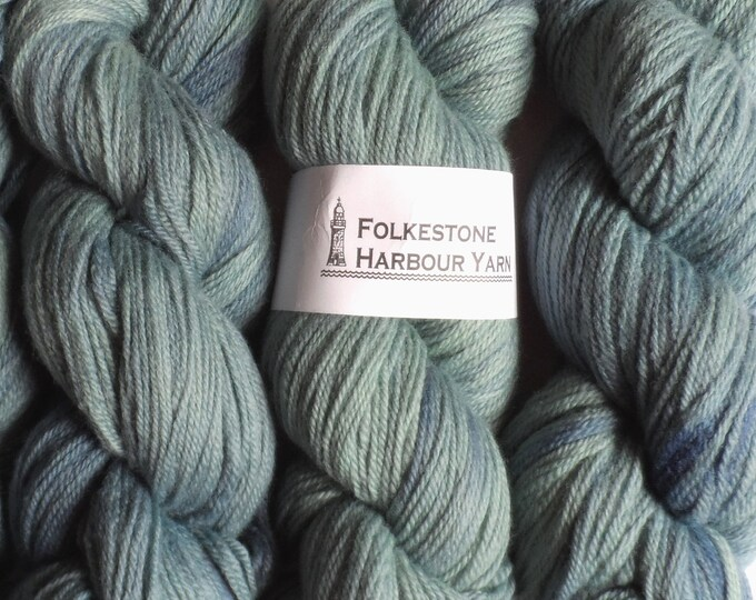 Cadet Blue Wool Yarn 100g DK Merino 12