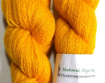 BFL Sock Turmeric Deep Yellow 46 50g Blue Faced Leicester
