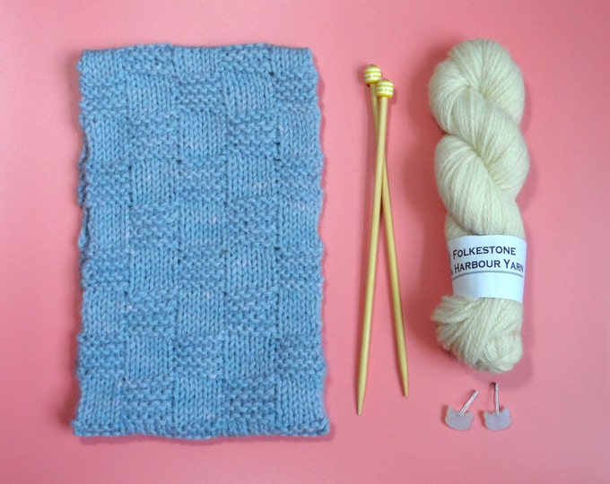 Cowl Kit - Simple One Skein Pattern - Easy Level - Choice of Colours