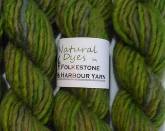 Green Turmeric & Indigo 78 Super Chunky Corriedale Yarn 50g