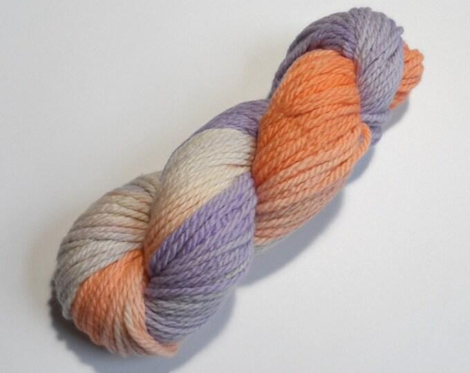 Crocus Variegated Chunky Merino Yarn 100g Lilac Peach