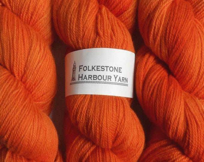 Saffron Orange Wool Yarn 100g DK Merino 22