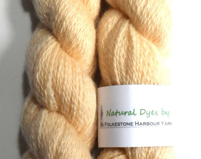 Pinky Cream Safflower #8 BFL Sock 50g Blue Faced Leicester