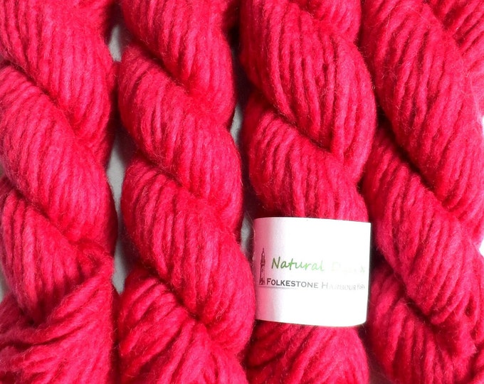 Berry Red Cochineal Super Chunky Corriedale Yarn 50g #65