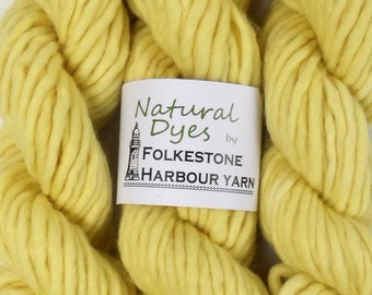 Yellow Chamomile Super Chunky Corriedale Yarn 50g