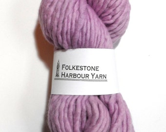 Lilac Purple Super Chunky Merino Wool Yarn 29