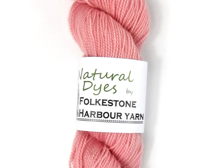 Cochineal Pastel Pink #55 Natural Dye Sock 4ply Yarn 50g