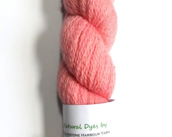 Pastel Pink Cochineal #55 BFL Sock 50g Blue Faced Leicester
