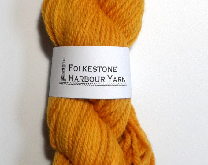 Orpiment Mustard Yellow Chunky Wool Yarn 100g 21