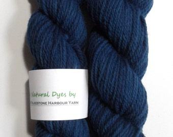 Indigo Dark Denim Blue #28 Aran Southdown Yarn 50g