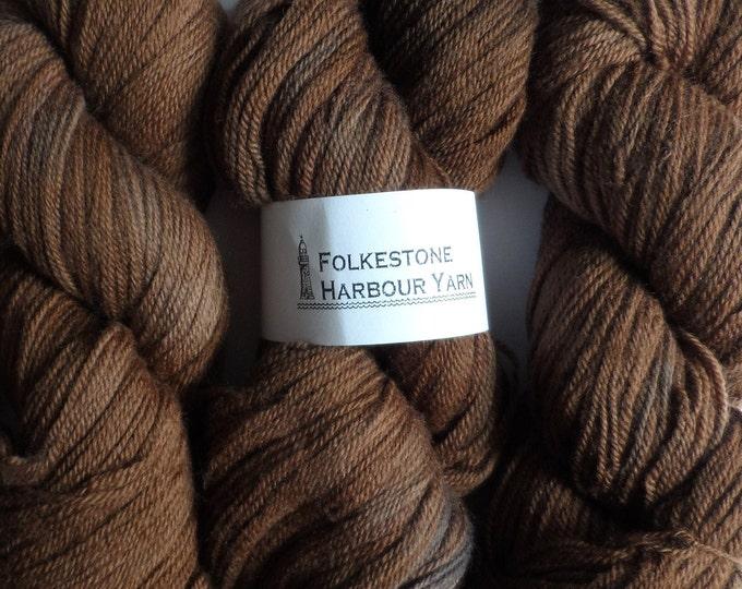 Chocolate Brown Wool Yarn DK Merino 06