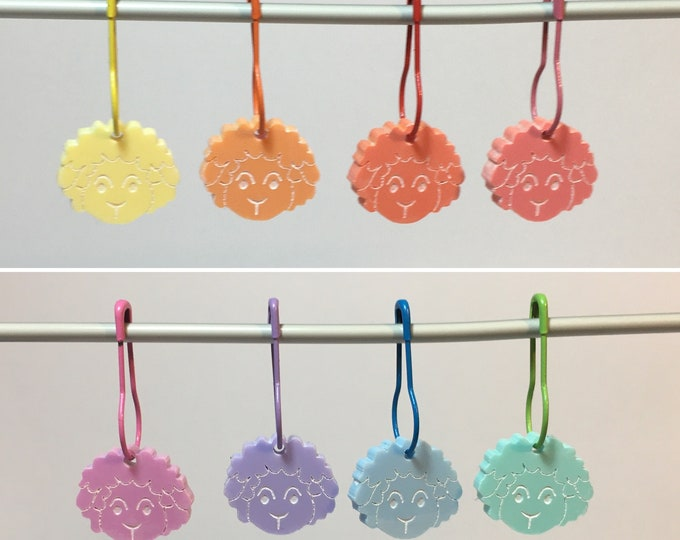 Spring Lambs Pastel Rainbow Stitch Marker sets     Choice of 4 or 8