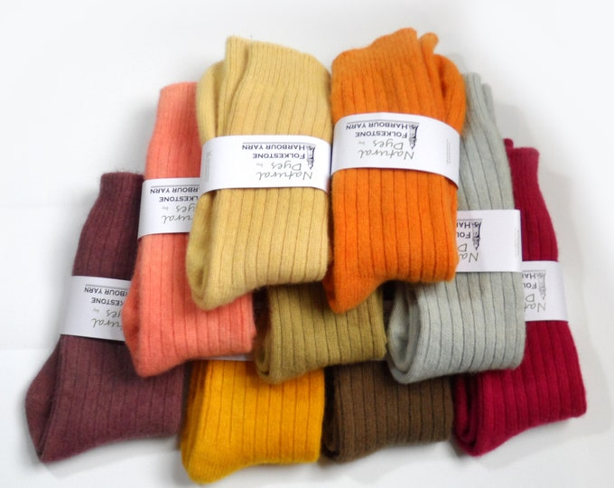 Mens Wool Socks     Naturally Dyed      Assorted Colours Size 6-11
