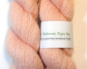 Baby Pink Cochineal Blue Faced Leicester 50g Sock/Fingering