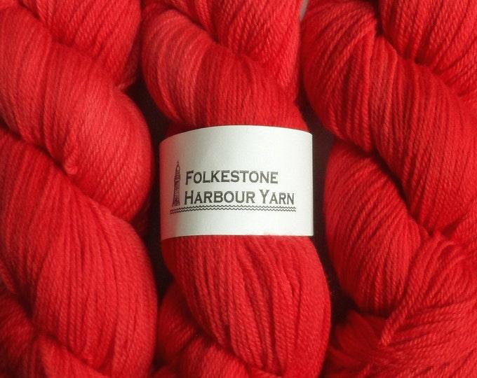 Vermillion Red Wool Yarn DK Merino 23